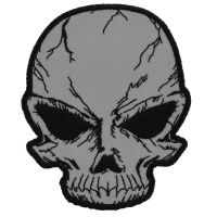 Reflective Small Cracked Skull Patch | Embroidered Patches