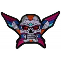 Robot Skull Colorful Large Back Patch