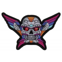 Robot Skull Colorful Patch