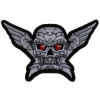 Robot Skull Small Patch