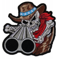 Shotgun Willy Skull Patch Small | Skull Patches
