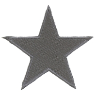 Silver Star Patch | Embroidered Patches
