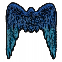 Small Angel Wings Patch Blue | Embroidered Patches