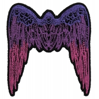 Small Angel Wings Patch Pink | Embroidered Patches