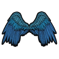 Small Beautiful Angel Wings Blue Patch | Embroidered Patches