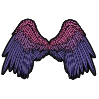 Small Beautiful Angel Wings Pink Patch | Embroidered Patches