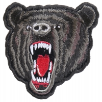 Small Black Bear Biker Patch | Embroidered Patches