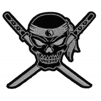 Small Skull Cross Swords Patch | Embroidered Patches
