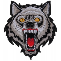 Small Wolf Patch | Embroidered Patches