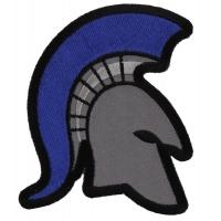Spartan Helmet Blue Mohawk Police Patch