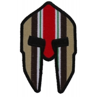 Spartan Helmet Iraq War Vet Ribbon Patch
