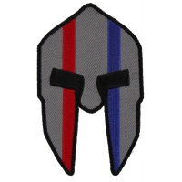 Spartan Helmet Red And Blue First Responder Patch