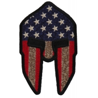 Spartan Helmet US Flag Patch