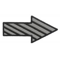 Striped Arrow Reflective Patch