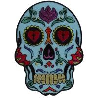 Sugar Skull Blue Patch