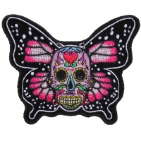 Sugar Skull Butterfly Patch