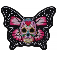 Sugar Skull Butterfly Large Patch
