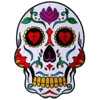Sugar Skull Large Back Patch
