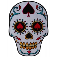 Sugar Skull Spades Large Back Patch