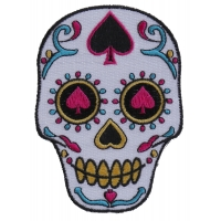 Sugar Skull Spades Small Patch