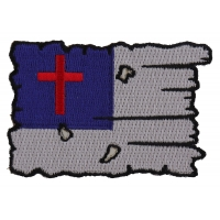 Tattered Christian Flag Patch