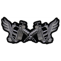 Tattoo Guns Wings Patch Small