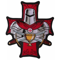 Templar Holy Grail Large Christian Back Patch