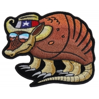 Texas Armadillo Patch For Texan Natives
