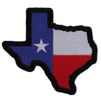 Texas Map Texas Flag Black Border Patch | Embroidered Patches