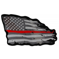 Thin Red Line American Tattered Flag Large Back Patch
