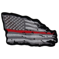 Thin Red Line American Tattered Flag Patch