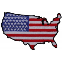 Unites States Map With US Flag Patch | Embroidered Patches