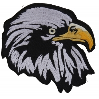 White Eagle Facing Right Patch | Embroidered Patches