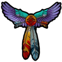 Wings and Arrows Native Design Large Back Patch