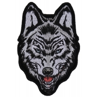 Wolf Small Iron on Patch