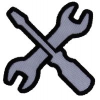 Wrench and Screwdriver Iron on Patch