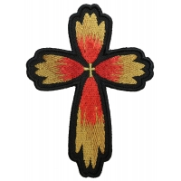 Christian Cross Flower Petal Patch