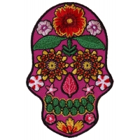 Flower Skull Pink Patch