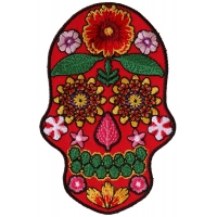 Flower Skull Red Patch