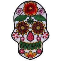 Flower Skull White Patch