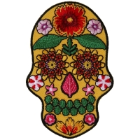 Flower Skull Yellow Patch