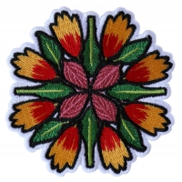 Flower Petals and leaves Mix Patch