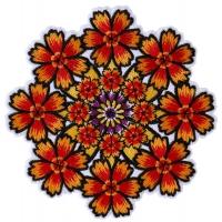 Kaleidoscope Flowers Patch