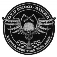 Old skool Biker Skull Patch