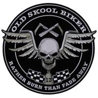 Old skool Biker Skull Patch