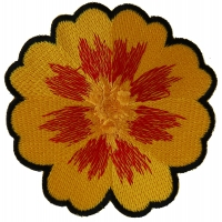 Orange Yellow Flower Patch