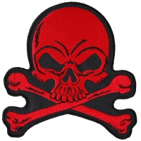 Red Skull and Cross Bones Patch
