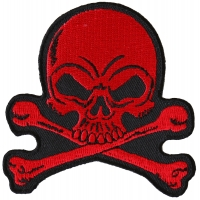 Red Skull and Crossbones small Patch