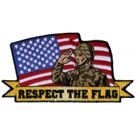 Respect the flag Soldier Salute Patch