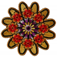 Symmetric Flowers Patch